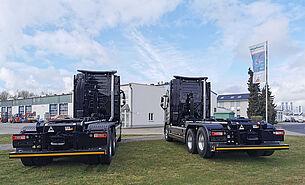 VDL Abrollkipper S21-6200 auf Volvo Fahrgestell - von hinten