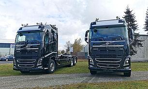 VDL Abrollkipper S21-6200 auf Volvo Fahrgestell - von vorne
