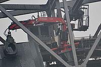 Sonderaufbauten Spezialfahrzeuge RWE stationär auf Tagebaubagger